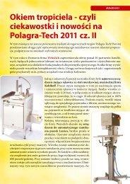 Okiem tropiciela - czyli ciekawostki i nowości na Polagra-Tech 2011 ...
