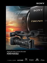Sony HXR-NX5U NXCAM Camcorder - ZTV Broadcast Services Inc.