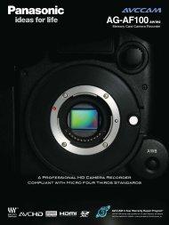Panasonic AG-AF100 Brochure - DV Info Net