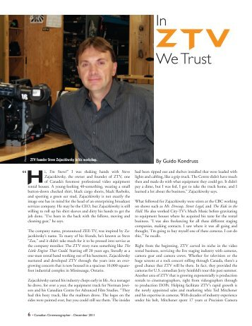 in We trust - ZTV Broadcast Services Inc.