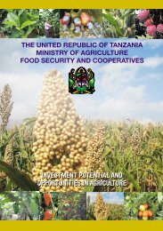 investment potential and opportunities in agriculture - Ministry Of ...