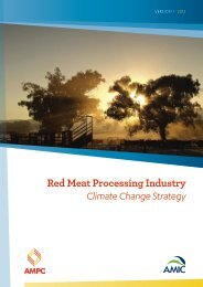 Red Meat Processing Industry Climate Change Strategy