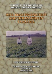 soya bean production and utilization in tanzania - Ministry Of ...