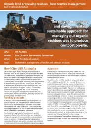 JBS Case Study - Sustainable Management of Feedlot and Abattoir ...