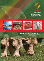 AnnuAL RePoRt 2011 - Australian Meat Processor Corporation