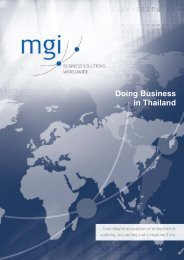 Doing Business in Thailand - MGI