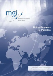 Doing Business in Pakistan - MGI