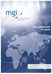 Doing Business in Japan - MGI