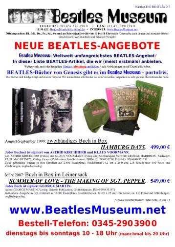 Beatles Museum - Katalog 47 mit Hyperlinks