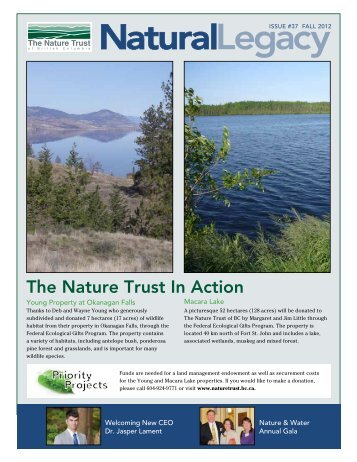 Fall Newsletter 2012 - Nature Trust of British Columbia