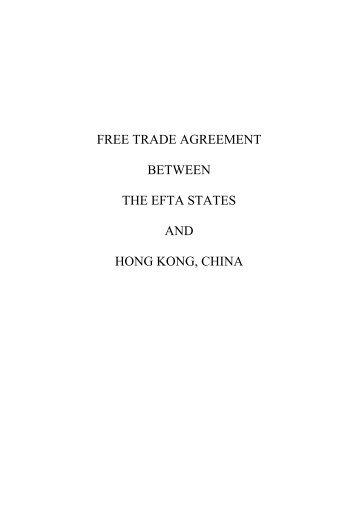 Efta Chile Free Trade Agreement Seco Admin