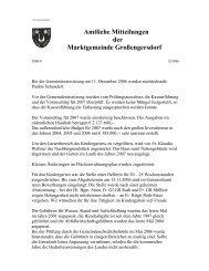 Amtliche Mitteilungen der Marktgemeinde Großengersdorf
