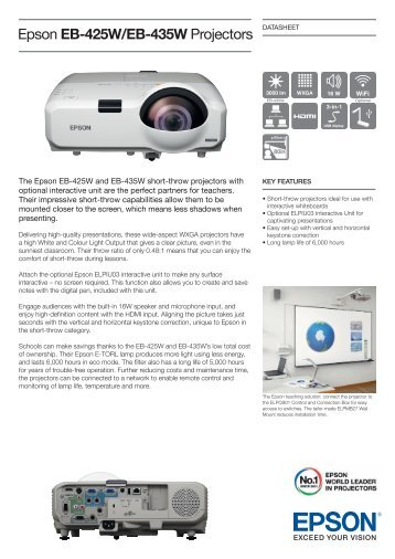 Epson EB-425W/EB-435W Projectors - Medium