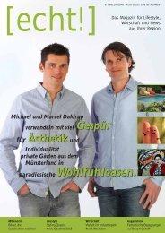 [echt!] - Ausgabe 1/2015 - Das Magazin für den Kreis Coesfeld