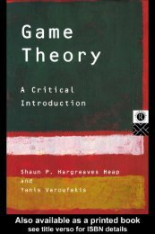 Hargreaves - Game Theory - Critical Introduction (Routledge, 1995)