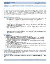 model districts project job description - Columbia Global Centers