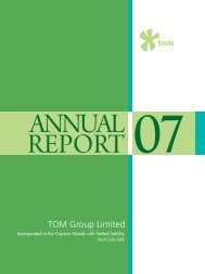 2007 Annual Report - TOM Group