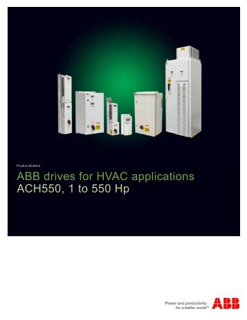 ABB drives for HVAC applications ACH550, 1 to  - Gerrie Electric ...