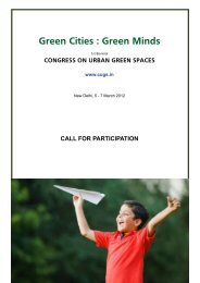 Green Cities : Green Minds - Center for Urban Green Spaces