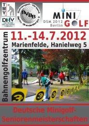 Senioren 1 - Deutscher Minigolfsport Verband