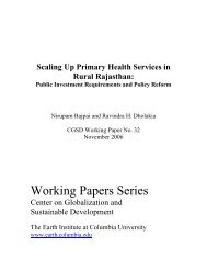 scaling up primary healthcare services - Columbia Global Centers
