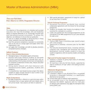 Master of Business Administration (MBA) - Hong Kong Baptist ...