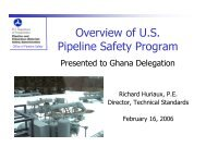 Overview of U.S. Pipeline Safety Program - Narucpartnerships.org