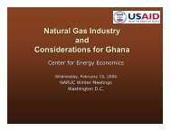 Natural Gas Industry and Considerations for Ghana