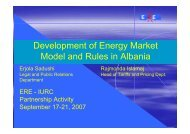 Developments in the Albanian Electricity Market Model