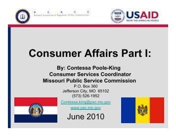Consumer Affairs Part I: - Narucpartnerships.org