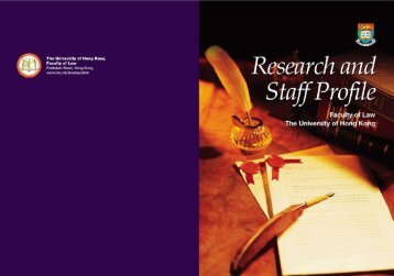 Research and Staff Profile - Faculty of Law, The University of Hong ...