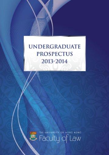 Undergraduate Prospectus 2013-2014 - Faculty of Law, The ...