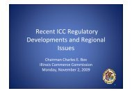 Regulatory Issues Confronting ICC - Narucpartnerships.org