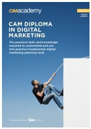 CAM DIPLOMA IN DIGITAL MARKETING - CIM Academy