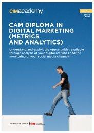cam diploma in digital marketing (metrics and ... - CIM Academy