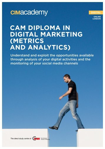 cam diploma in digital marketing (metrics and ... - CIM Academy