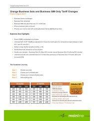 Orange Business Tariff Refresh April 2011 - Mainline