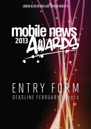 PDF entry form - Mobile News Awards 2013