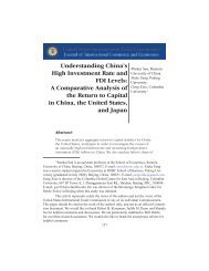 Understanding China's High Investment Rate and FDI Levels: A ...