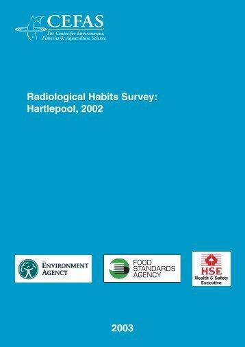 Radiological Habits Survey: Hartlepool, 2002 2003 - Cefas - Defra