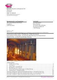 Schlussbericht Messungen, Auswertung ... - Pfarrei Wünnewil-Flamatt