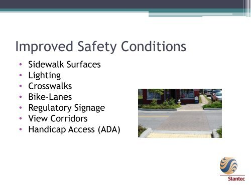Streetscapes = Improved Quality of Life
