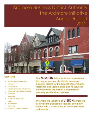 2012 Annual Report - The Ardmore Initiative