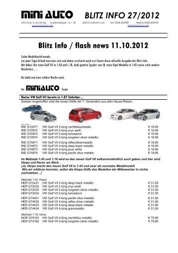 Blitz Info 27 2012 - Auto-Modell-Report