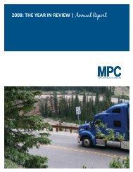 2008 Annual Report - Mountain-Plains Consortium (MPC)