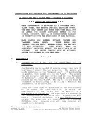 instructions for petition for appointment of co-guardians - the Clark ...