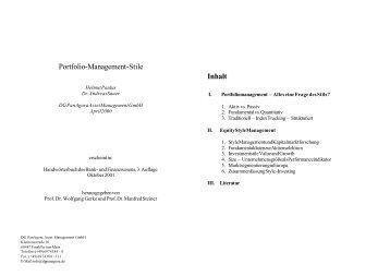 Portfoliomanagementstile - Quoniam.de