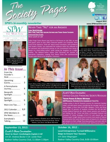 August 2012 - Society of Professional Women