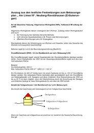 """plan """" Am Limes III"""", Neuberg-Ravolzhausen (Erläuterun- gen)"""