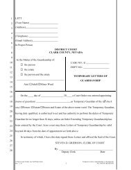 Letters of Temporary Guardianship - the Clark County Courts in Las ...